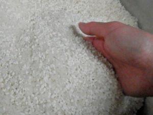もち米とただ米を混ぜた状態